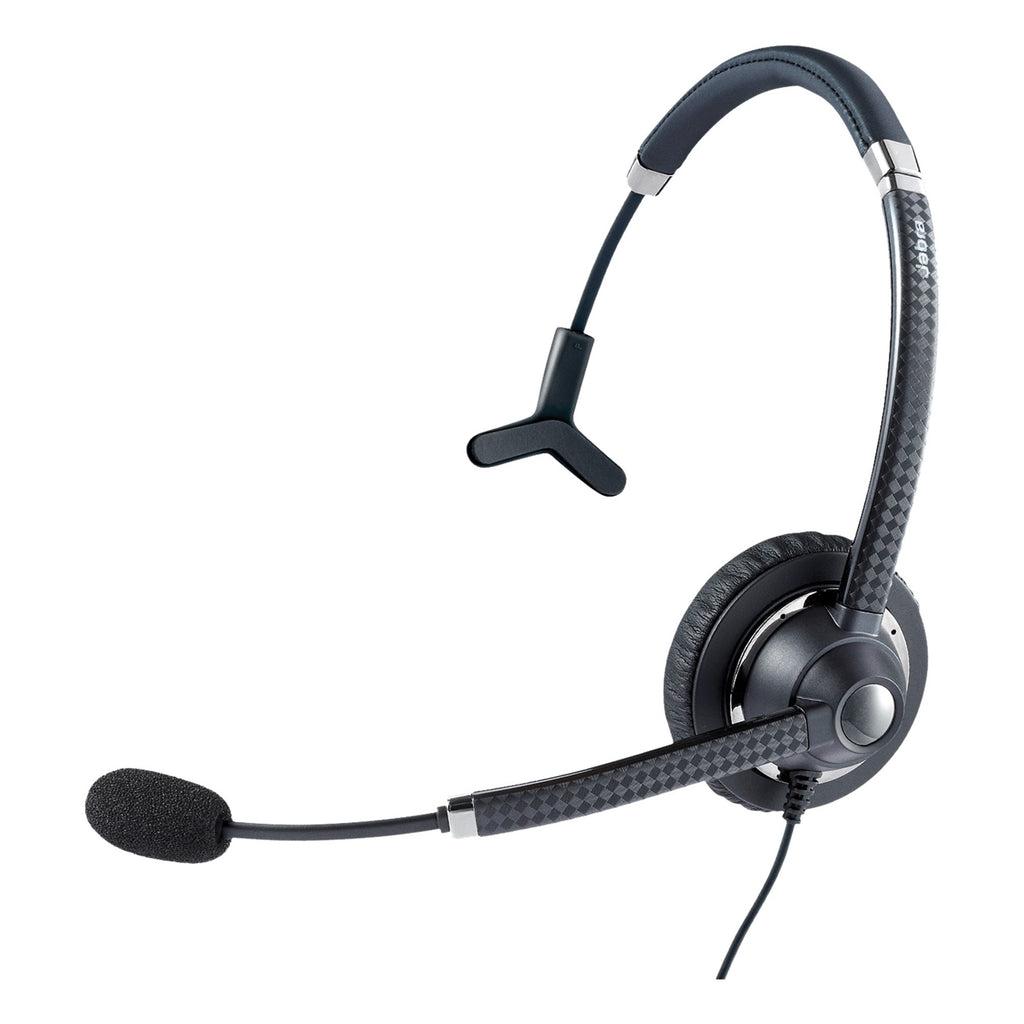 Jabra UC Voice 750 Headset - Mono - USB - Wired - 6 Hz - 6.80 kHz - Over-the-head - Monaural - Supra-aural - Noise Cancelling - Yes (7593-823-309)