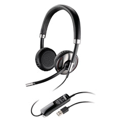 Plantronics Blackwire C720 Headset - Stereo - Black - USB - Wired/Wireless - Bluetooth - 20 Hz - 20 kHz - Over-the-head - Binaural - - (87506-02)