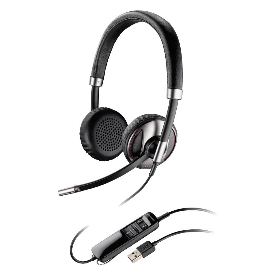 Plantronics Blackwire C720-M Headset - Stereo - USB - Wired/Wireless - Bluetooth - Over-the-head - Binaural - Semi-open - Noise (87506-01)
