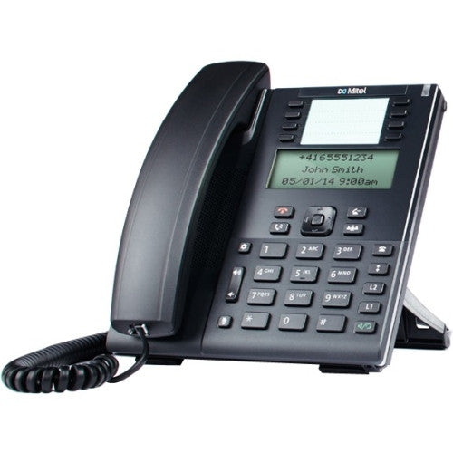 Mitel 6865i IP Phone - Cable - Desktop - 9 x Total Line - VoIP - Speakerphone - 2 x Network (RJ-45) - PoE Ports - Monochrome - RTCP, (80C00001AAA-A)