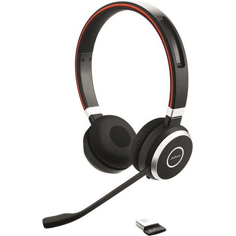 Jabra Evolve 65 UC Stereo - Stereo - USB - Wireless - Bluetooth - 98.4 ft - Over-the-head - Binaural - Supra-aural - Noise Cancelling, (6599-829-409)