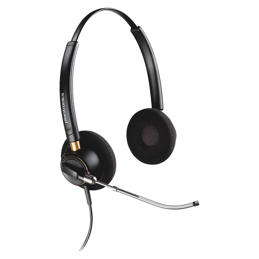 Plantronics EncorePro HW520V Headset - Stereo - Wired - Over-the-head - Binaural - Supra-aural - Noise Cancelling Microphone - Yes (89436-01)