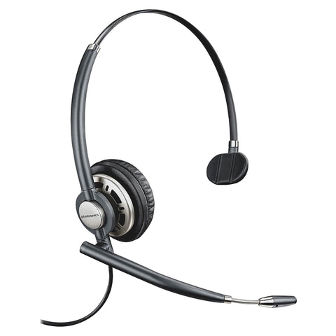 Plantronics EncorePro HW710 Wired Mono Headset - Mono - Black - Quick Disconnect - Wired - Over-the-head - Monaural - Circumaural - - (78712-101)
