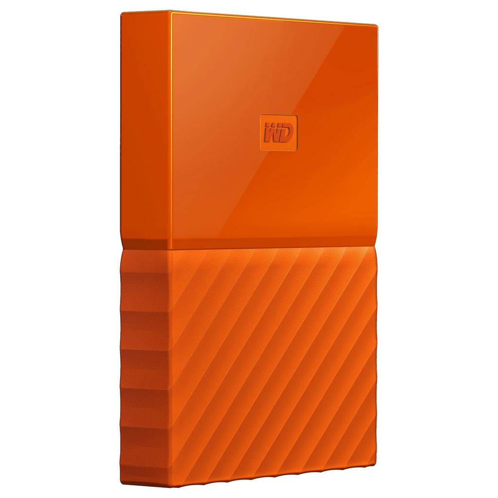 WD My Passport WDBYFT0030BOR-WESN 3 TB External Hard Drive - Portable - USB 3.0 - Orange - 256-bit Encryption Standard (WDBYFT0030BOR-WESN)