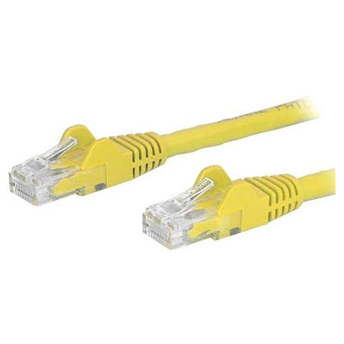 StarTech.com 14ft Yellow Cat6 Patch Cable with Snagless RJ45 Connectors - Cat6 Ethernet Cable - 14 ft Cat6 UTP Cable - Category 6 for (N6PATCH14YL)
