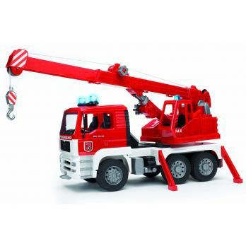 Bruder MAN TGA Fire Engine Crane Truck with Light/Sound Module (02770) Toy
