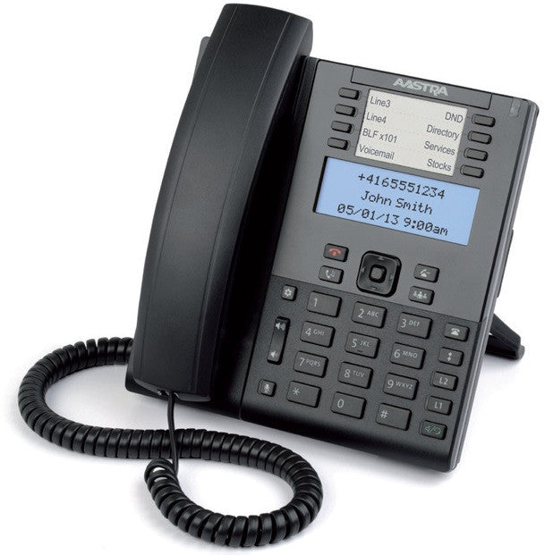 Mitel 6865i IP Phone - Cable - Desktop - 9 x Total Line - VoIP - Speakerphone - 2 x Network (RJ-45) - PoE Ports - Monochrome - RTCP, (80C00001AAA-A)-FleetNetwork.ca - Networking / Hobby / Automation / Solar / VoiP
