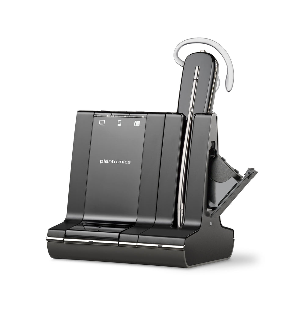 Plantronics Savi W745 Earset - Mono - Wireless - DECT - 350 ft - Over-the-ear, Over-the-head, Behind-the-neck - Monaural - Open - (86507-01)-FleetNetwork.ca - Networking / Hobby / Automation / Solar / VoiP