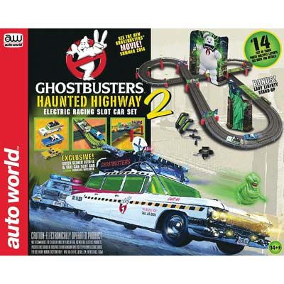 Slot Racing Ghostbusters 14' Haunted Highway 2 Slot Car Race Set