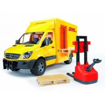 Bruder MB Sprinter DHL Truck with Manually Operated Pallet Jack (02534) Toy