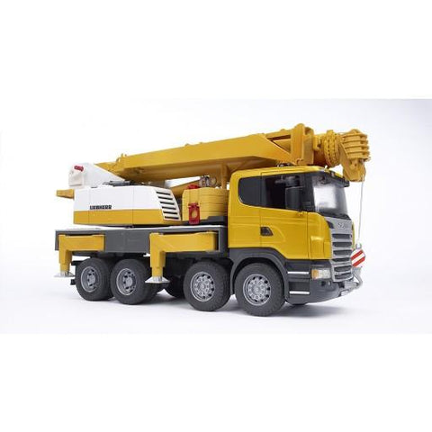 Bruder SCANIA R-Series Liebherr Crane Truck with Light/Sound Module (03570) Toy