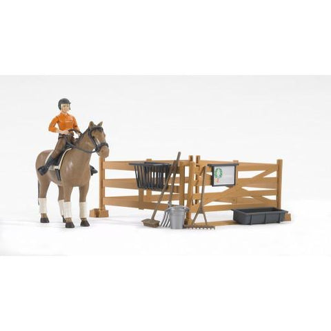 Bruder bworld riding set with horse and woman (62500) Toy