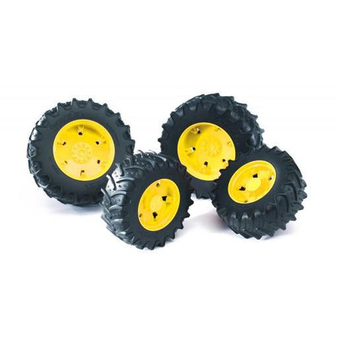 Bruder Twin Tires with Yellow Rims for JD 7930 (03314) Toy