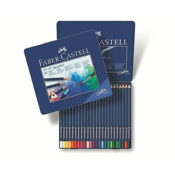 Faber-Castell Watercolor pencil ART GRIP AQUARELLE tin of 24