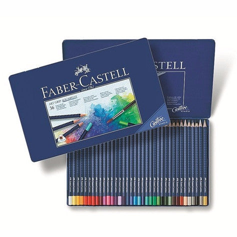 Faber-Castell Watercolor pencil ART GRIP AQUARELLE tin of 36