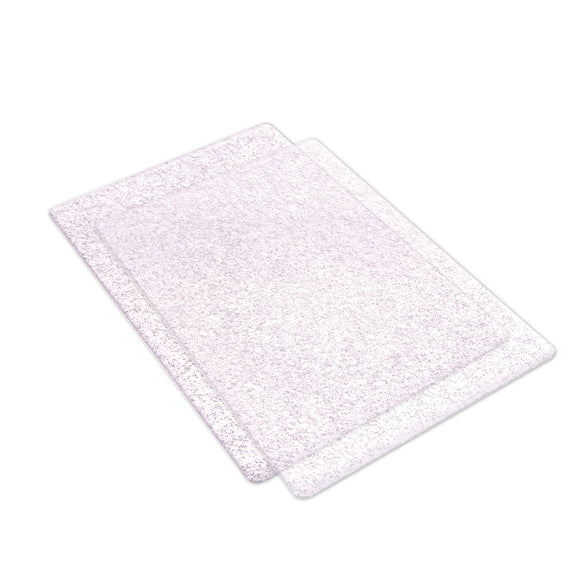 Sizzix Cutting Pad Standard 1 Pair Clear with Silver Glitter