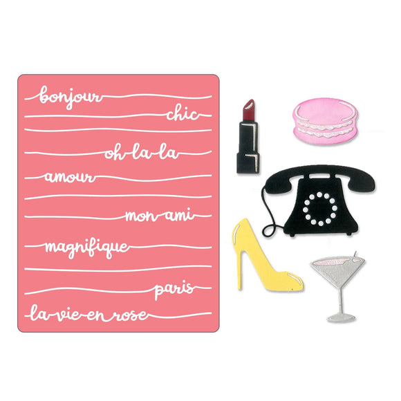 Sizzix Thinlits with TFEF - Bonjour Chic