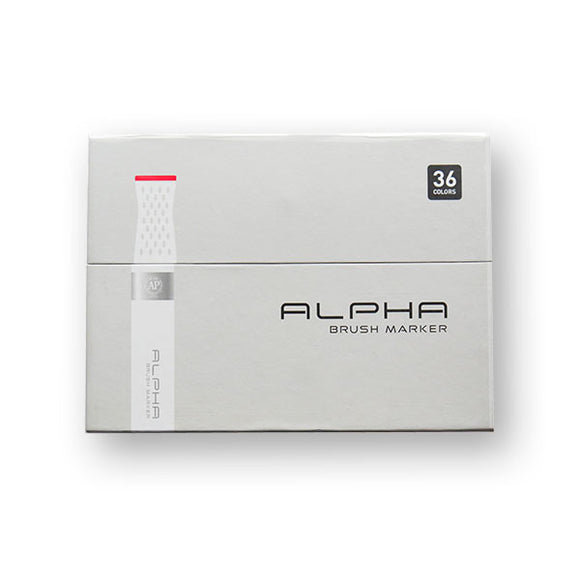 Alpha Brush Marker 36-Color Set