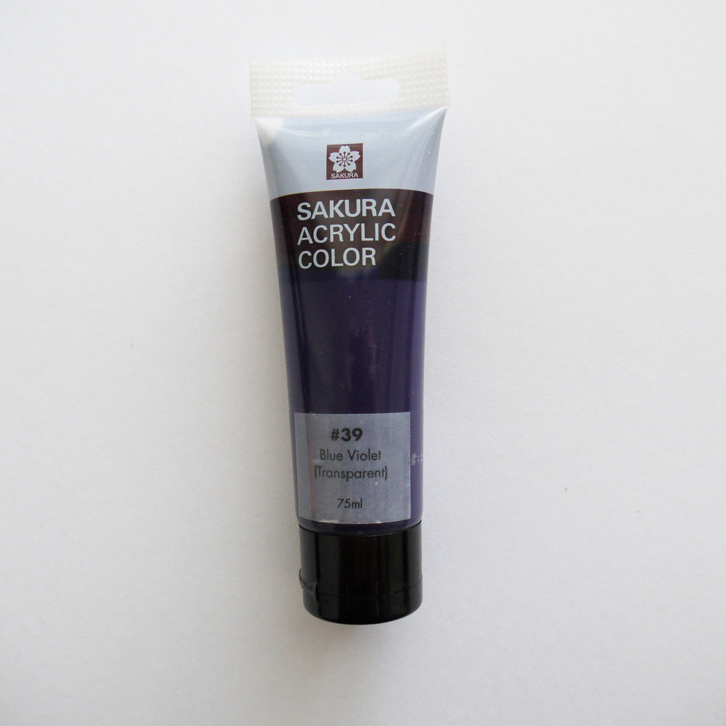 Sakura Acrylic Color 75mL - #39 Blue Violet (Transparent)
