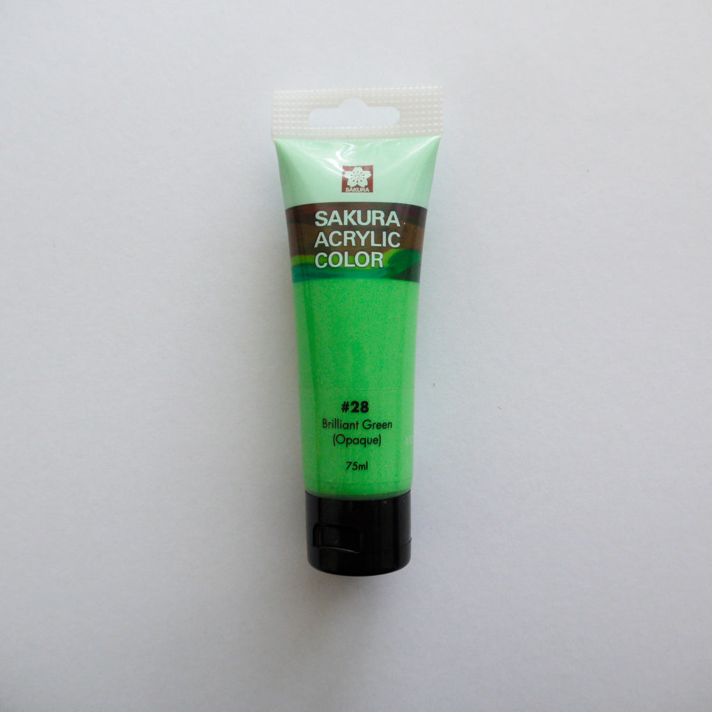 Sakura Acrylic Color 75mL - #28 Brilliant Green (Opaque)