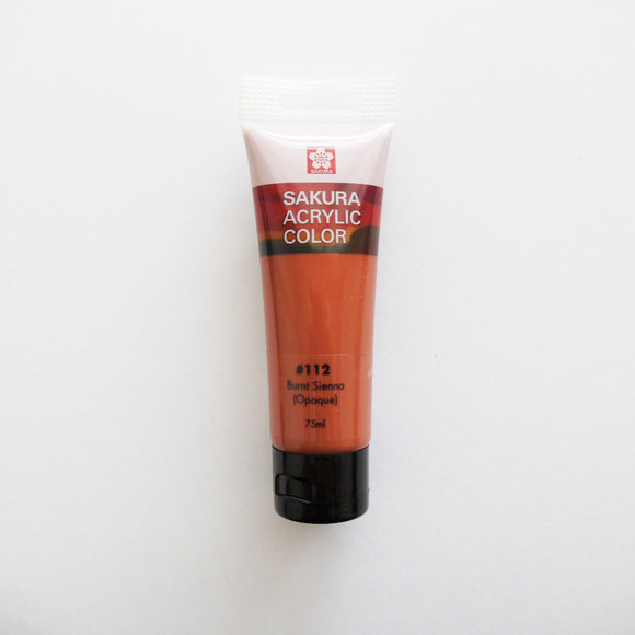 Sakura Acrylic Color 75mL - #112 Burnt Sienna (Opaque)