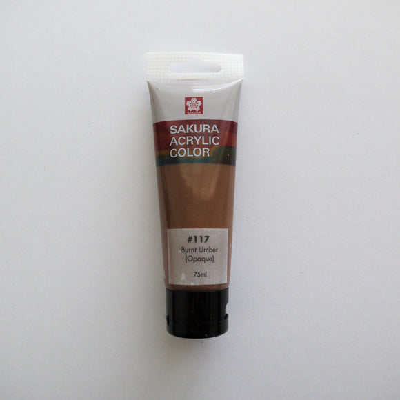 Sakura Acrylic Color 75mL - #117 Burnt Umber (Opaque)