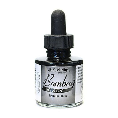 Dr. Ph. Martin's Bombay India Ink 30mL - 7BY Black