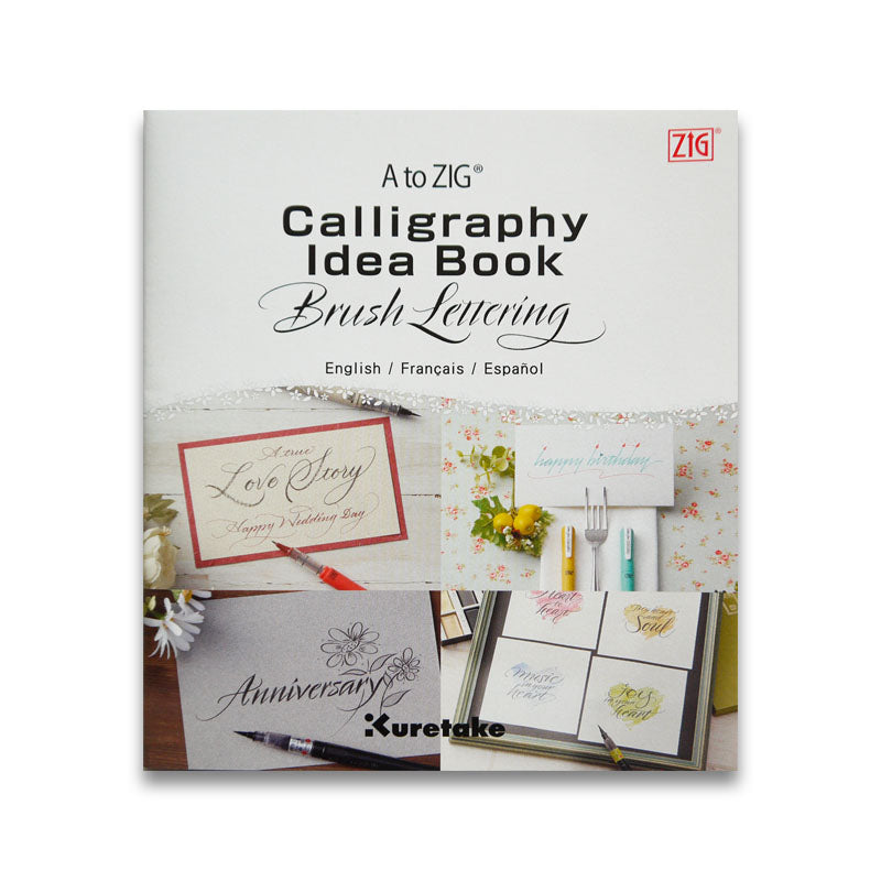 A to Zig Idea Calligraphy Book - Brush Lettering