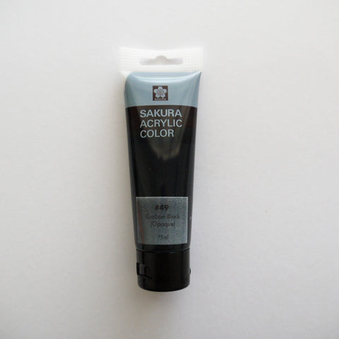 Sakura Acrylic Color 75mL - #49 Carbon Black (Opaque)