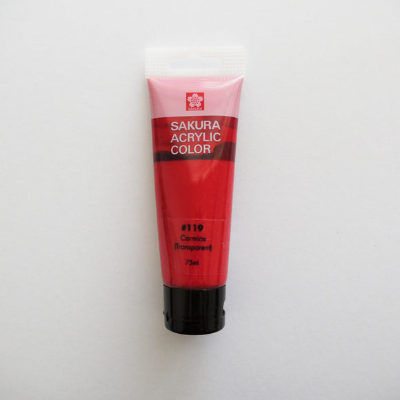 Sakura Acrylic Color 75mL - #119 Carmine