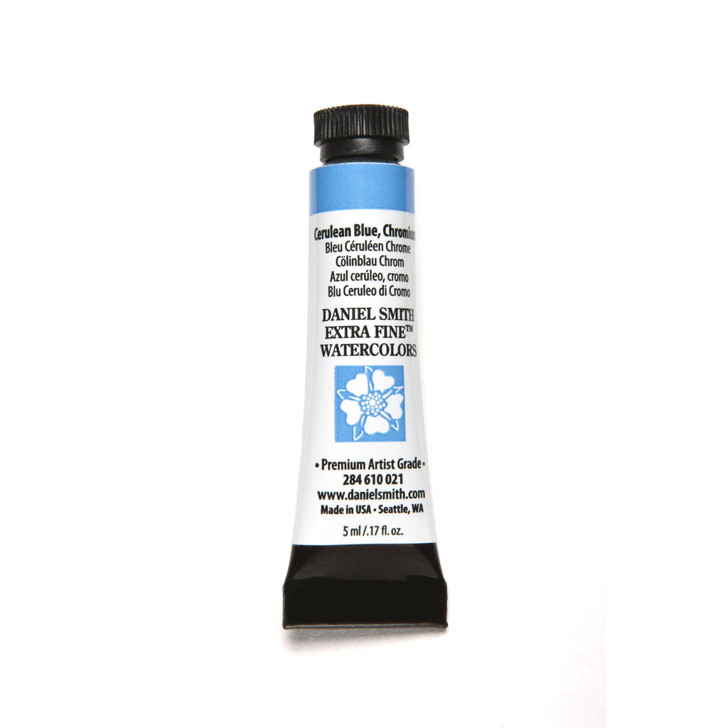Daniel Smith Extra Fine Watercolor 5mL - Cerulean Blue, Chromium