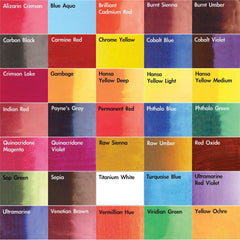 Dr. Ph. Martin's Hydrus Fine Art Watercolor - Color Chart