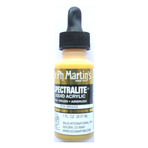 Dr. Ph. Martin's Spectralite Liquid Acrylic Airbrush Metallic 30mL - Brass
