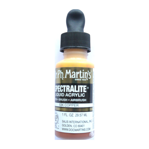Dr. Ph. Martin's Spectralite Liquid Acrylic Airbrush Metallic 30mL - Copper
