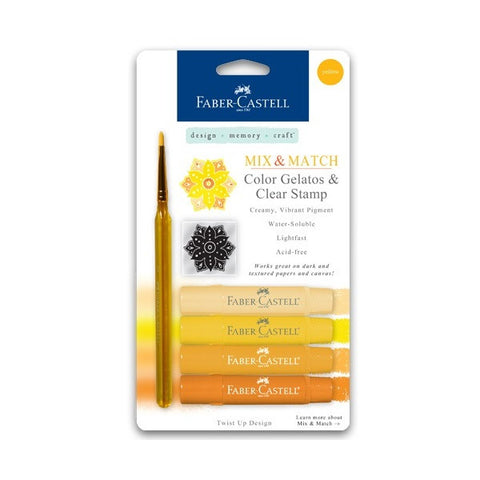 Faber-Castell Design Memory Craft Gelatos - Set of Yellow