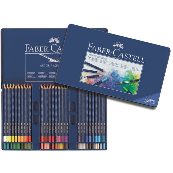 Faber-Castell Watercolor pencil ART GRIP AQUARELLE tin of 60