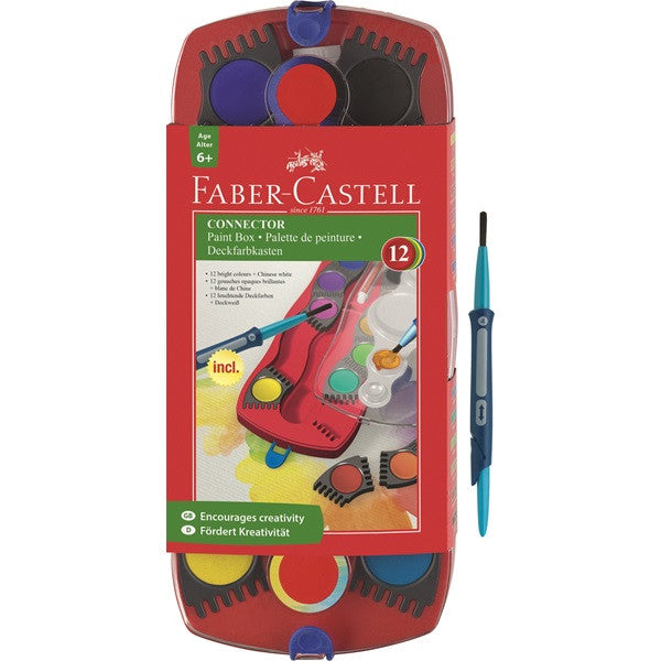 Faber-Castell Connector paint box 12 colors + brush