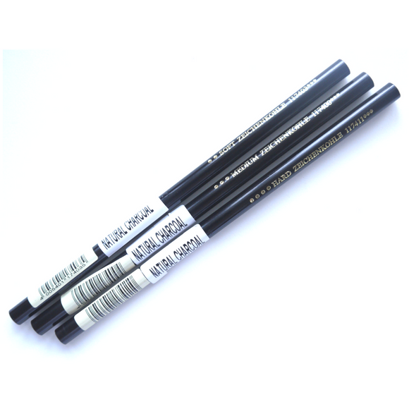 Faber-Castell Natural Charcoal Pencil - Soft