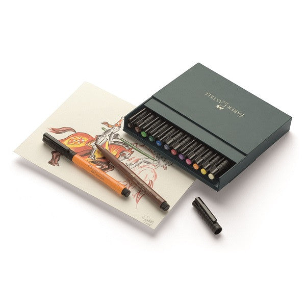 Faber-Castell India ink PITT artist pen B studio box of 12