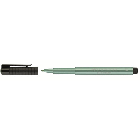 Faber-Castell India ink PITT artist pen - 1.5 mm Green Metallic