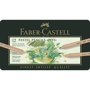 Faber-Castell Color pencil PITT PASTEL tin of 12