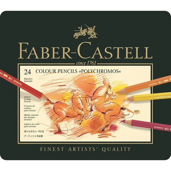 Faber-Castell Color Pencil Polychromos tin of 24