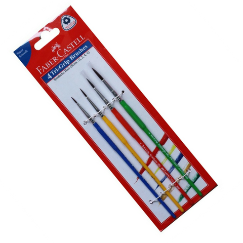 Faber-Castell Tri-Grip Round Brushes Set of 4