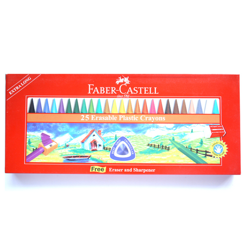Faber-Castell Erasable Crayons 25 Colors