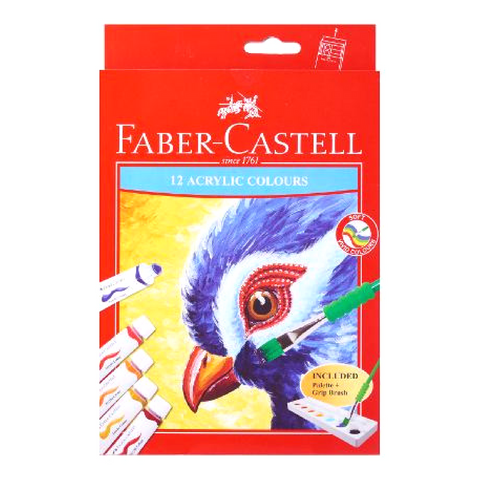 Faber-Castell Acrylic Colours set of 12