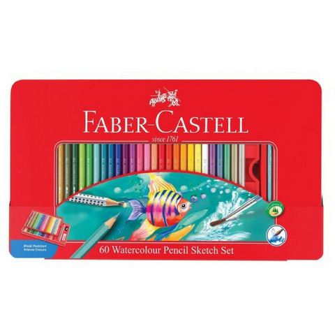Faber-Castell Classic Watercolor Pencils in Metal Case set of 60