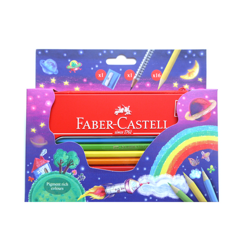 Faber-Castell Classic Coloured Pencils in Travel Case set of 15