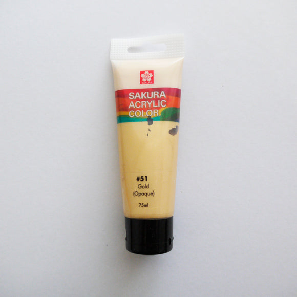Sakura Acrylic Color 75mL - #51 Gold (Opaque)