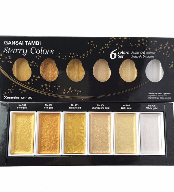 Kuretake Gansai Tambi Starry Watercolor - Set of 6