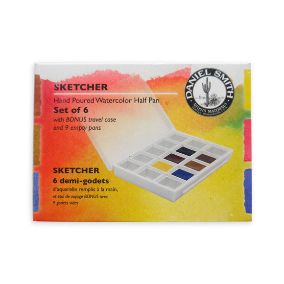Daniel Smith Hand-Poured Watercolour Half Pan Set - Sketcher Set
